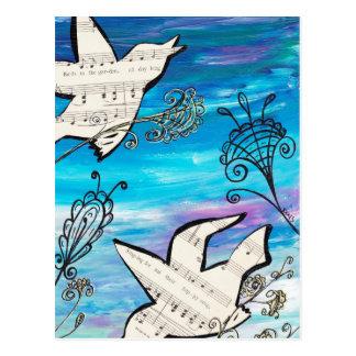 Birds in the Garden Postcard