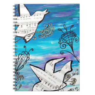 Birds in the Garden Spiral Notebooks