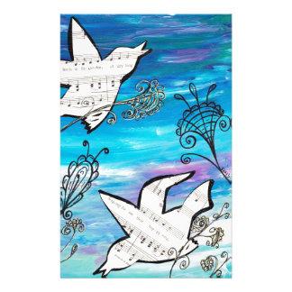 Birds in the Garden Stationery Design