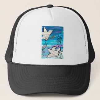 Birds in the Garden Trucker Hat
