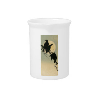Birds in the Moonlight Drink Pitcher