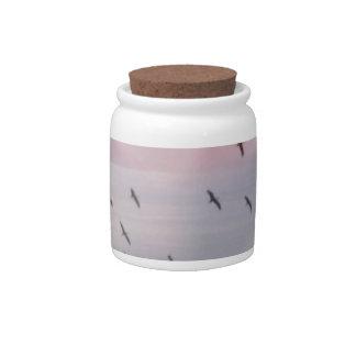 BIRDS IN THE SKY  Art Candy Jars
