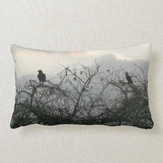 Birds in the Storm Lumbar Pillow