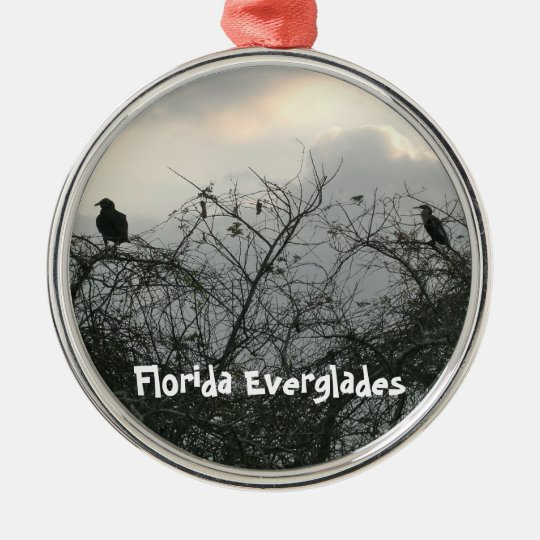 Birds in the Storm Metal Ornament