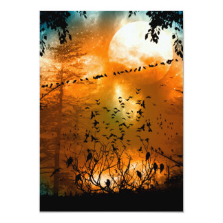 Birds in the sunset card