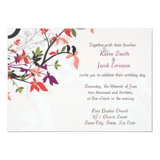 Birds in the Trees 5x7 Paper Invitation Card