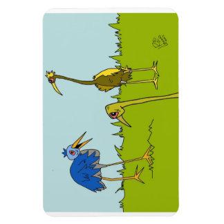 Birds in the Wild Cartoon Magnet