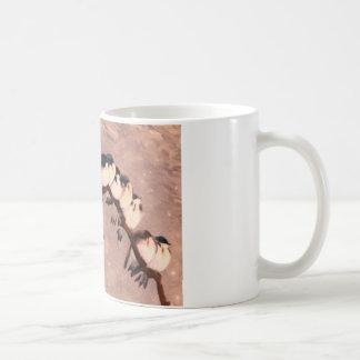 birds in the winter classic white coffee mug