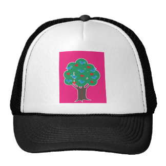 Birds in Tree Hat