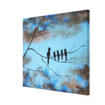 Birds In Tree In Sky Mother's Day Abstract Art Gallery Wrapped Canvas