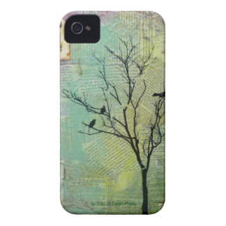 """Birds in Tree """"Need"""" CaseMate Barely There Case-Mate iPhone 4 Case"""