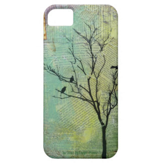 """Birds in Tree """"Need"""" CaseMate Barely There iPhone SE/5/5s Case"""