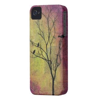 Birds in Tree Silhouette Case-Mate iPhone 4 Case