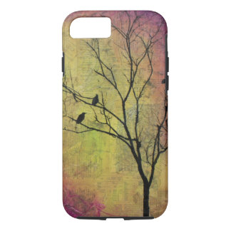 Birds in Tree Silhouette iPhone 7 Case