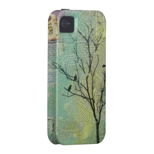 "Birds in Trees ""Need"" CaseMate iPhone4 Case"