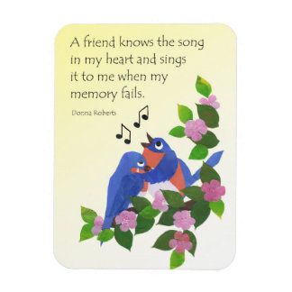Birds Inspirational Friendship Quote Fridge Magnet