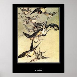 Birds Japanese Vintage Poster