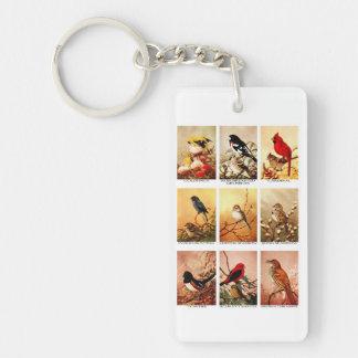 Birds Rectangle Acrylic Keychains
