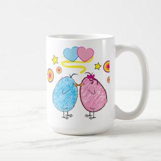 Birds Kissing Mug
