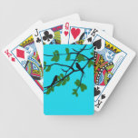 Birds_leaves_tree_blue_design Bicycle Poker Cards