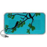 Birds_leaves_tree_blue_design iPod Altavoces