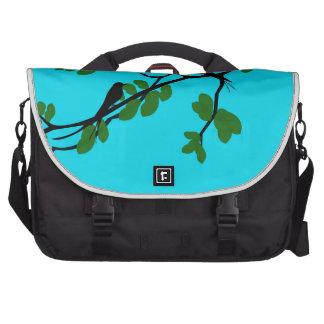 Birds_leaves_tree_blue_design Bags For Laptop