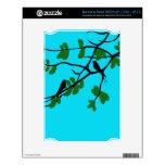Birds_leaves_tree_blue_design Skins Para NOOK