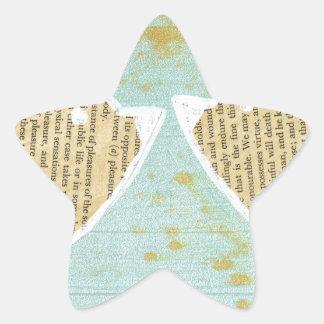 Birds, love birds, 2 little cute birds star sticker