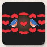 birds_love_black_design del amor posavasos