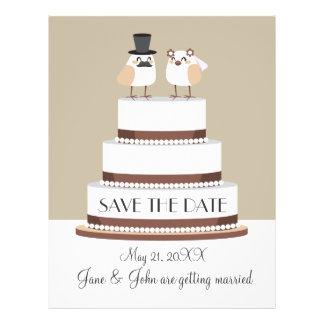 """Birds Love Wedding Cake 8.5"""" X 11"""" Flyer"""