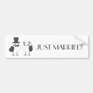Birds Love Wedding Cake Bumper Sticker