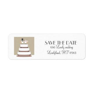 Birds Love Wedding Cake Label