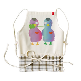 Birds' Love Zazzle HEART Apron