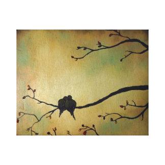 Birds lovers canvas print