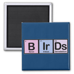 Birds Made Of Elements Square Magnet