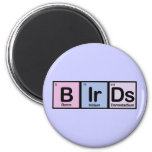 Birds made of Elements Refrigerator Magnet
