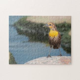 Birds Meadow Lark. Jigsaw Puzzle