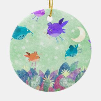 birds midnight feast - ornament