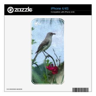 Birds Mockingbird Animal Nature Photo iPhone 4 Skins