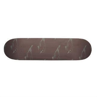 Birds muted purple skateboard deck