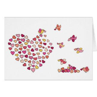 Birds n' Hearts Greeting Card
