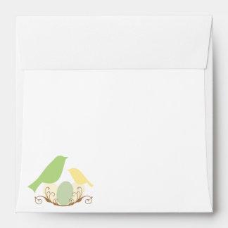Birds Nest Baby Shower Envelope