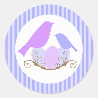 Birds Nest Baby Shower Envelope Seals Stickers