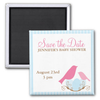 Birds Nest Baby Shower Save the Date magnets