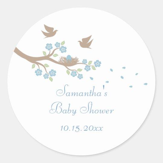 Birds Nest Baby Shower Sticker