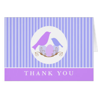 Birds Nest Baby Shower Thank You Cards