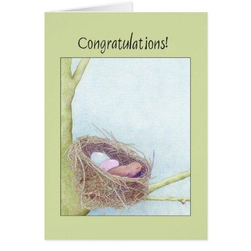 Bird's Nest Congratulations Card