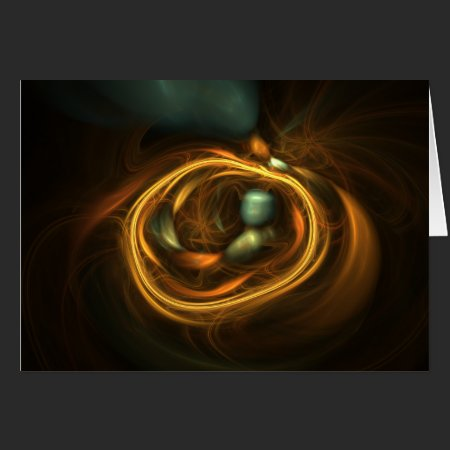 Bird's Nest Fractal Art Card