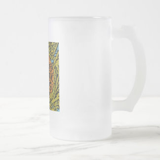 Bird's Nest Frosted Glass Beer Mug