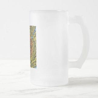 Bird's Nest Frosted Glass Beer Mug
